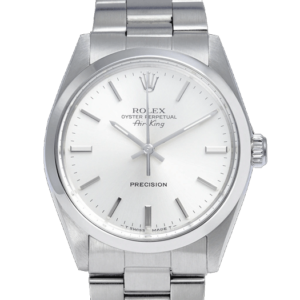 Rolex Air King 5500 White Dial Color Watch Front View 1