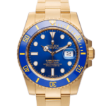 New Rolex Gold Submariner Date 116618lb Watch Front View