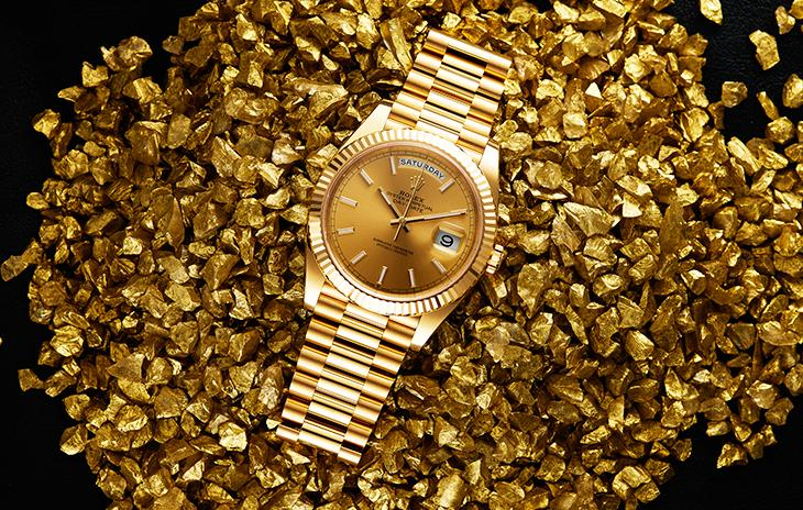 Rolex Day-Date in yellow gold with president bracelet