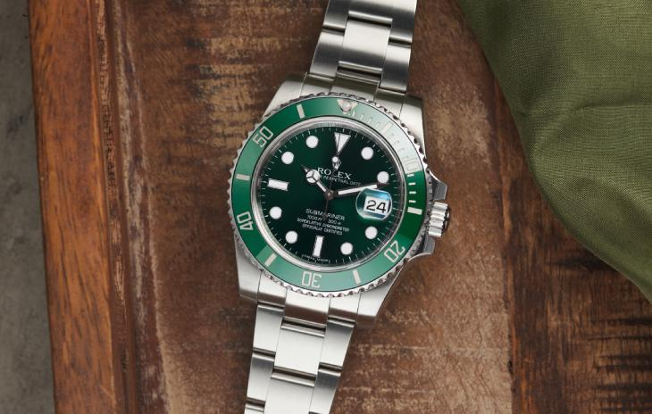 Rolex Submariner Date with green dial and bezel