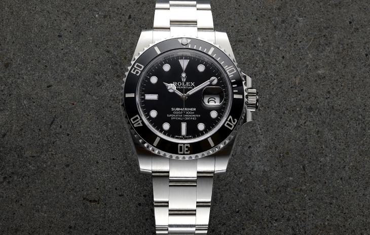 Rolex Submariner Date with black bezel and dial