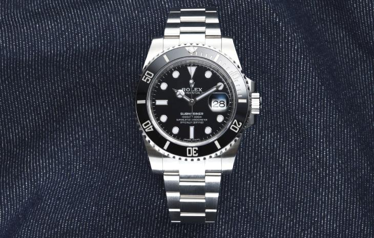 Rolex Submariner with black dial and black bezel