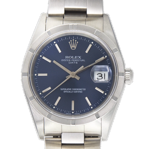 Rolex Date Oyster 15210 Watch Front View 3