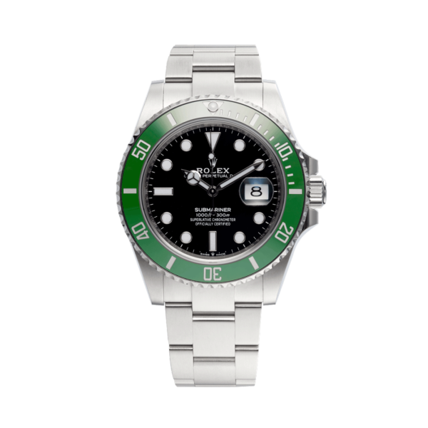 Rolex Submariner Date 126610lv Black Dial Color Watch Front View 2