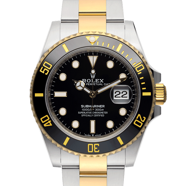 Rolex Submariner Date 126613ln Black Dial Color Watch Front View