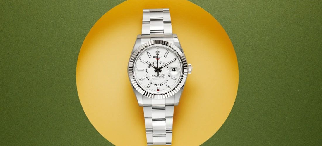Rolex Sky-Dweller with white dial