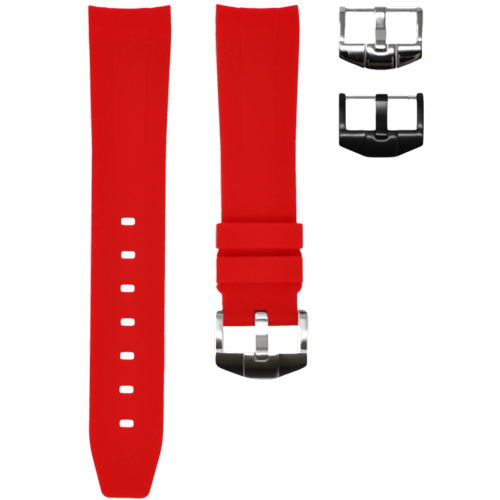 Omega Horus Strap Red Solid View 1