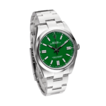 Rolex Oyster Perpetual Ref. 124300 Green Dial Color Watch Side View
