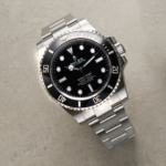 Rolex Submariner Black 114060ln Discontinued Black Dial Color Watch Top View