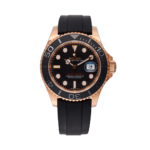 Rolex Yacht-master 40 Everose Gold Ref. 126655 Black Dial Color Watch Front View 2
