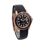 Rolex Yacht-master 40 Everose Gold Ref. 126655 Black Dial Color Watch Side View 1