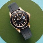 Rolex Yacht-master 40 Everose Gold Ref. 126655 Black Dial Color Watch Top View 1