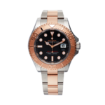 Rolex Yacht-master 40 Everose Gold Ref. 126621 Black Dial Color Watch Front View 3