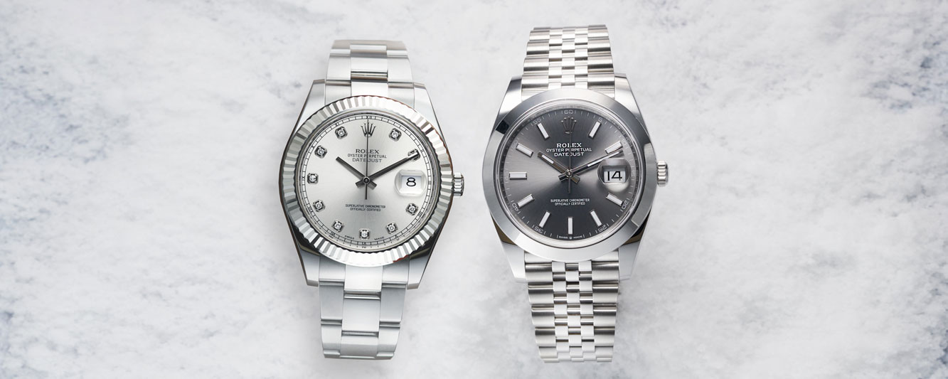 Two Rolex Datejust watches perfectly paired for Valentine's Day 2021