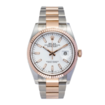 Rolex Datejust Two Tone White Dial Rose Gold 126231