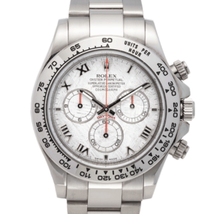 Rolex Daytona Cosmograph Meteorite Dial White Gold Face Discontinued