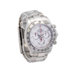 Rolex Daytona Cosmograph Meteorite Dial White Gold Face Discontinued side angle