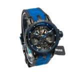 Roger DuBuis Excalibur Huracan Side skeleton blue
