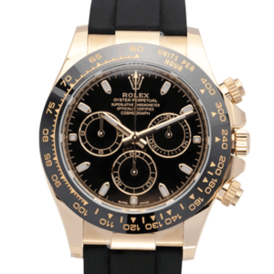 Rolex Yellow Gold Daytona Black Dial face