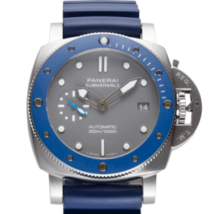 Panerai Submersible Shark Blue Rubber Strap Face