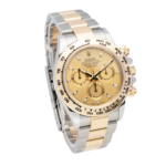 Rolex Daytona Champagne Dial Two-Tone Yellow and White Gold Bracelet Face