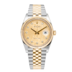 Rolex Datejust Champagne Yellow Gold Jubilee Dial 126233 Face