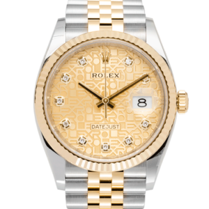 Rolex Datejust Champagne Yellow Gold Jubilee Dial 126233