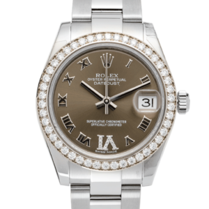 Rolex Datejust 31 MM Diamond Set Wimbeldon Dark Grey 31 MM
