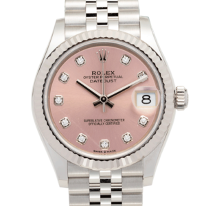 Rolex Ladies Datejust Pink Dial Diamond Set Ref. 279174