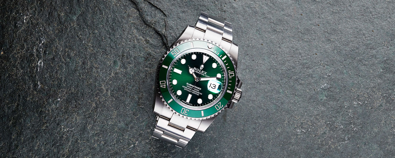 Rolex Hulk Submariner with green dial and bezel