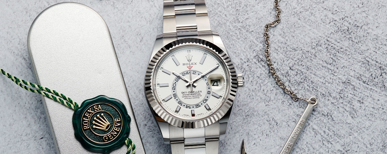 Rolex Sky Dweller with tag and anchor