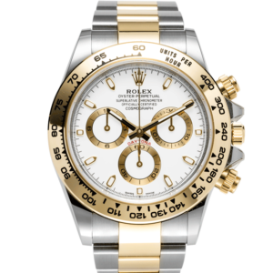 Rolex Cosmograph Two Tone Yellow and White Gold Daytona White Dial Ref 116503