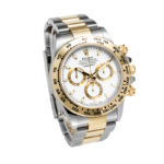 Rolex Cosmograph Two Tone Yellow and White Gold Daytona White Dial Ref 116503 Face