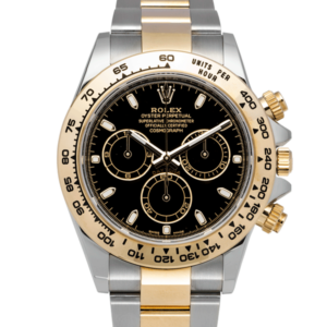 Rolex Cosmograph Daytona Black Dial Two Tone Yellow and White Gold 116503