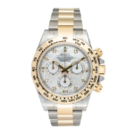 Rolex Two Tone Mother of Pearl Dial Yellow Gold Cosmograph Daytona Ref. 116503 Face