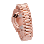 Back Clasp Rolex Presidential Day-Date Rose Gold Chocolate Dial Diamond Set Bezel 40 MM