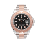 Rolex Yacht-master Two-tone Rose Gold Ref. 126621 Black Dial Color Watch Front View 1