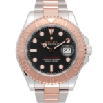 Rolex Yacht-master Two-tone Rose Gold Ref. 126621 Black Dial Color Watch Front View 2