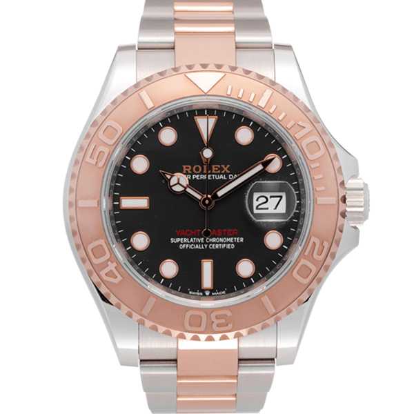Rolex Yacht Master 40 MM Two Tone Rose Gold Black Dial Ref. 126621