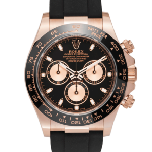 Rolex Cosmograph Daytona Rose Gold 40 MM Case with Oysterflex Bracelet Black Dial Ref. 116515LN