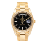 Rolex 18 ct. Yellow Gold Presidential Watch Black Dial 40 MM Ref. 228238