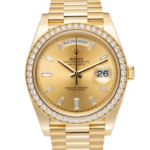 Rolex Day-Date Presidential Watch Champagne Dial 40 MM 18 ct Yellow Gold Ref. 228348RBR