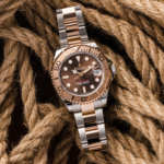 Rolex Yacht-Master Two-Tone Rose Gold Chocolate Dial 37 MM Ref. 268621-lifestyle