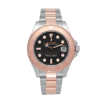 Rolex Yacht-master Rose Gold Ref. 268621 Black Dial Color Watch Front View 1