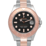 Rolex Yacht-master I Two-tone Rose Gold Oyster Bracelet With Black Dial Ref. 268621 Watch