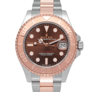 Rolex Yacht-master Two-tone Rose Gold Chocolate Dial 37 Mm Ref. 268621 Brown Dial Color Watch