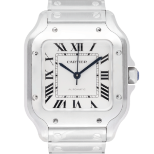 Cartier White Dial Color Watch Front View 1