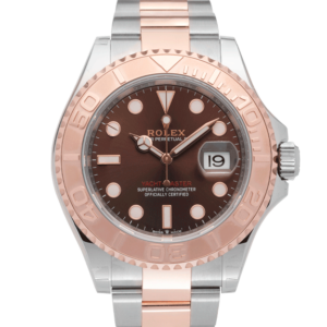 Rolex Yachtmaster Rosegold Brown Dial-Face2