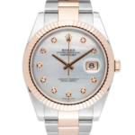 Rolex Datejust Pearl 41mm White Dial Color Watch Front View