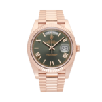 Rolex Day Date Green Dial Rosegold-Full